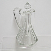 SALE Cruet American Glass