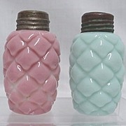 Salt and Pepper Shaker Set American Glass  1894 Cone Pattern