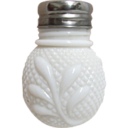 SALE EAPG Diamond Point and Leaf Pattern Single Shaker