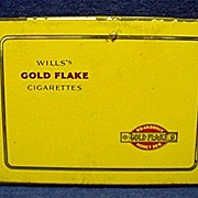 REDUCED Will's Gold Flake Cigarette Pocket Advertising Tin