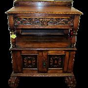 Oak Console Table Circa 1890