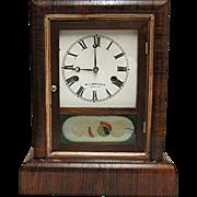 Antique American Rosewood Mantle Clock