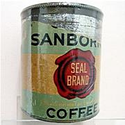 Chase & Sanborn Coffee Tin Seal Brand 50% OFF