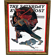 SALE Off  to the Fire March 28, 1931 Saturday Evening Post Cover by Norman Rockwell