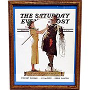 SALE The Scarecrow  April 25 1936 Norman Rockwell Saturday Evening Post Cover