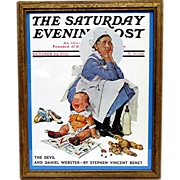 SALE The Nursemaid  October 24 1936 Saturday Evening Post Cover by Norman Rockwell