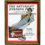 SALE Miami Bound November 30 1940 Saturday Evening Post Cover by Norman Rockwell