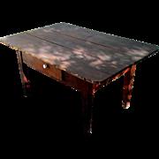 SALE American Peg Top Table Circa 1850