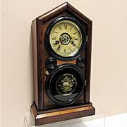 Antique Ingraham Mantel Clock 100% Original And Fully Restored