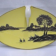Nippon Porcelain Silhouette Nappy or Lemon Dish