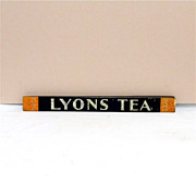 LYONS Tea Store Display Tin Advertising Sign
