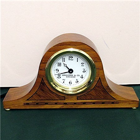 Antique Inlaid Clock for Desk or Mantel by Spaulding & Co. Chicago