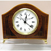 REDUCED Antique French Inlaid Clock For Desk, Mantel, Table