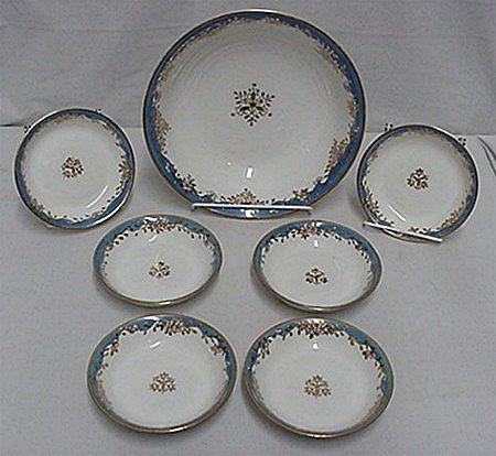 Dessert Set Nippon Porcelain Service for 6
