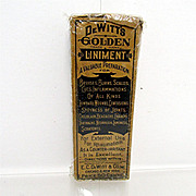 SALE DeWitts Golden Liniment Antique Pharmacy or Drugstore Item