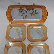 Lusterware Porcelain Service for 4 Complete Art Deco Set