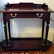 Hall Stand Victorian Mahogany