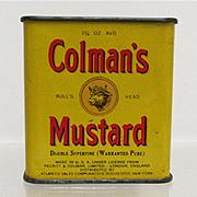 Bargain Spice Tin Colman Mustard with Original Contents