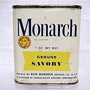 Bargain Advertising Tin For Monarch Spices  Ground Savory