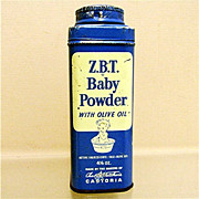 Advertising Tin For ZBT Baby Powder  4 1/2 ounce Size 50% OFF