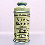 SALE Talc Tin  Sample Size Buddy Brooks