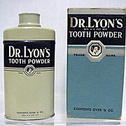 SALE Dr. Lyons Sample Tooth Powder Tin 3/4 oz. Size