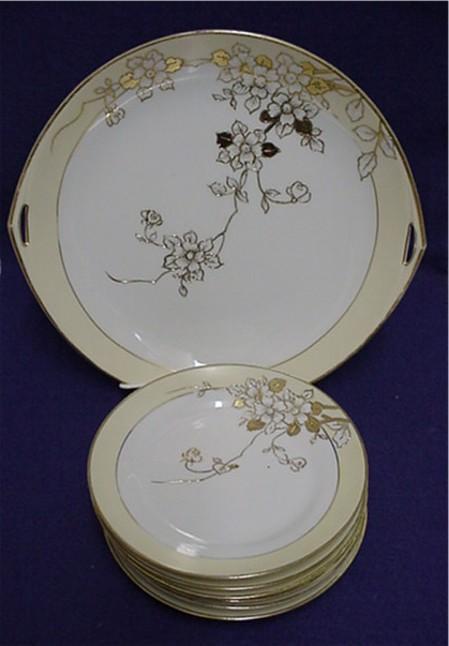 Nippon Cake Set Porcelain Service for 6