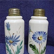 Salt and Pepper Shaker Set American Opalware Glass