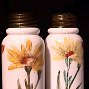 Salt and Pepper Set American Glass Shakers 1898 - 1905