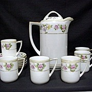 Coffee Set Nippon Porcelain Service for Six  $195