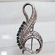 Silver Brooch Art Nouveau