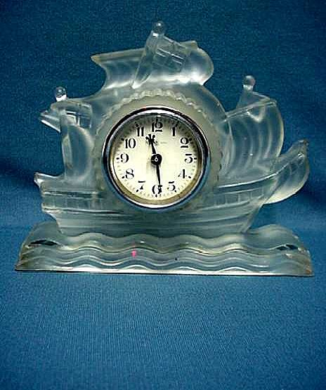 Glass Sailing Ship Clock 50% OFF Perfect for Desk Table or Mantel