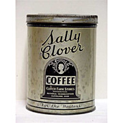 Coffee Tin Advertising for Sally Clover One Pound