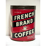 Advertising Coffee Tin for French Brand