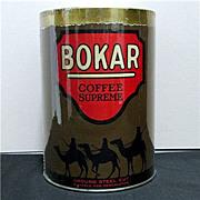 Coffee Tin Bokar Advertising Near Mint