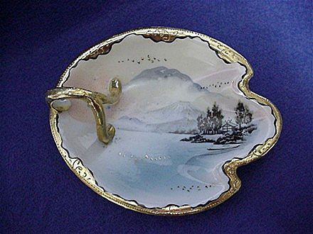 Nippon Porcelain Nappy or Lemon Dish  Hand Painted