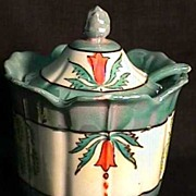 Lusterware Mint Green Luster Covered Jar for Jelly, Jam, Candy  $59