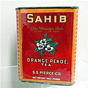 Advertising Tea Tin S. S. Pierce Tea One Pound