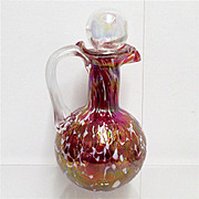 Cruet  Red Iridescent American Glass