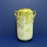 Nippon Vase Hand Painted  Porcelain