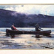 SALE Fly Fishing Framed Lithograph Print 50% Off