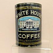 White House Coffee Advertising Tin One Pound Size