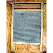 SALE Washboard  Zinc and Wood