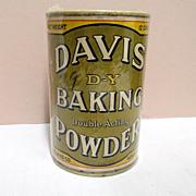 SALE Davis D-Y Baking Powder Tin Original Contents
