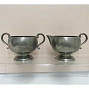 SALE Cream and Sugar Set American
