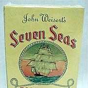 Advertising Seven Seas Tobacco Box MINT Condition