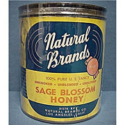 REDUCED Advertising Tin For Natural Brands Honey