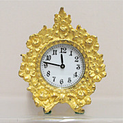 SALE Waterbury Fire Gilt Gold Clock