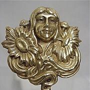 Hat Pin Art Nouveau Gold Gilt Hatpin  $155