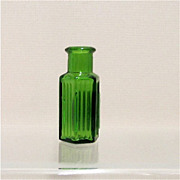 Poison Apothecary Bottle Emerald Green